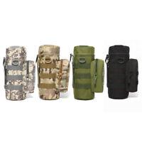 Hiking Camping Water Bottle Kettle Holder Belt Pouch Nylon Bag+Shoulder Strap