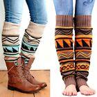 Women Winter Long Boot Socks Knit Crochet High Knee Leg Warmers Legging Stocking