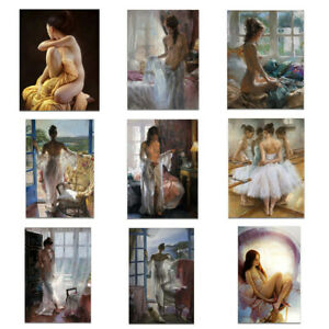 Sexy Naked Women Nude Art Oil Painting Canvas Poster Wall Art Picture Home Decor
