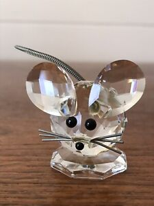 Vintage Retired Swarovski Crystal Mouse  In the Summer Meadow 1976-1995