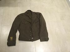 WW2,ike type jacket new old stock. od/brown,38reg  new old stock?,1945