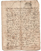 1748  KING LOUIS XV Royal Notary autograph manuscript document DAMAGED