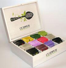Clipper 12 Compartment Box & 96 Mixed Fairtrade Enveloped Tea { 8 x12 }