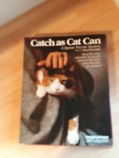 """bePuzzled """"Catch as Cat Can"""" Mystery Puzzle  Vintage 1988 New Sealed 500 Piece"""