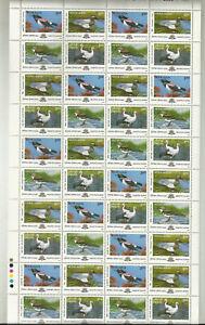 India IndipexAsiana2000 Migratory Birds Se-tenant block    full sheet