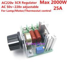 220v AC 2000w SCR adjustable Voltage Regulator Control lamp Dimmers Thermostat