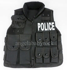NYLON ZIP COSPLAY VEST KIDS BOYS TACTICS SWAT POLICE VEST AGE7-10 -0208
