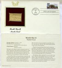 22k Gold Replica Stamp World War II Postal Commemorative 1st Day Issue 9-2-1995