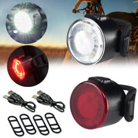 Mini LED Bicycle head Light Rechargeable Bike Tail Rear Lights Cycling Lamp Set