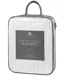 Hotel Collection Egyptian Cotton Blanket king size Resistant to snags $220