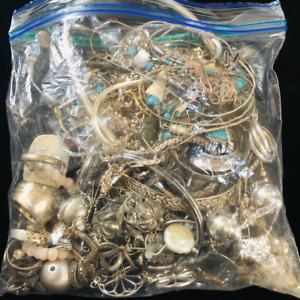 Sterling Silver Scrap Lot 555 grams Pieces Parts Repair Scrap