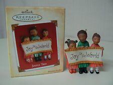 Hallmark Ornament 2004 JOYFUL TRIO Children Joy To The World Christmas Keepsake