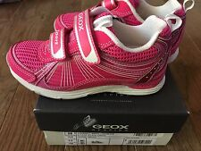 NEW GEOX Girl Noemi Fuchsia Pink Toddler Kids Breathable Sneaker Shoes 10.5
