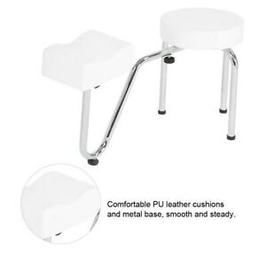 PU Leather Tattoo Leg Arm Rest Pad Pedicure Foot Stool Chair White