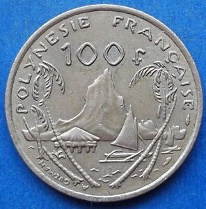 """FRENCH POLYNESIA - 100 francs 1976 """"Moorea Harbor"""" KM# 14 - Edelweiss Coins"""