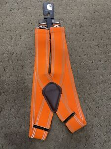 "Carhartt High Visibility Suspenders 2"" Adjustable Clip-on Work Suspender NEW!!!"
