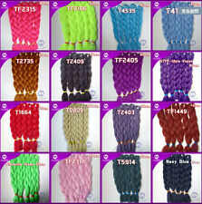 "Any Color 24"" Kanekalon Jumbo Braiding Synthetic Hair Extension Twist Braids 80g"