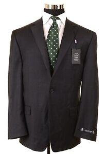 NWT Austin Reed Solid Dark Gray Wool Mens Sport Coat Jacket Blazer 46 R NEW
