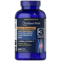 Puritan's Double Strength Glucosamine Chondroitin MSM - 480 Caps FREE SHIPPING