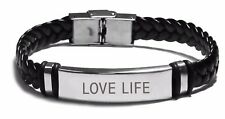 Love Life Quote Engraved Bracelet - ANY QUOTE FREE ENGRAVING Christmas Gifts
