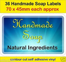 No5 Handmade Soap Making Labels x 36 adhesive vinyl Stickers Natural ingredients