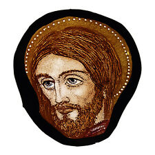 Christ stained glass fragment, Harry Clarke stained glass, Christ suncatcher