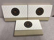 "3 X Punch Studio Monogram Note Cards Envelopes Case Pouch Initial  ""W"" W 30/30"