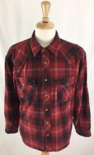 C.E Schmidt Workwear Red & Black Plaid Pearl Snap Flannel Mens Shirt X-Large