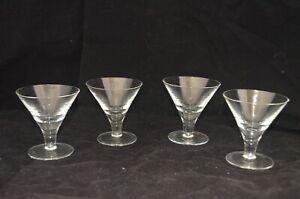 "VINTAGE Retro Short Martini Glasses - Set of 4 -  3 1/2""H"