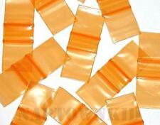 "100 Orange Plastic Ziplock Coin Parts Baggies 1"" X 1"" Size 1010 Ziploc Closure"