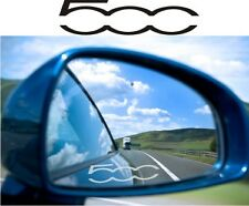 FIAT 500 Sticker Decal Etched Glass Effect for Mirror Style