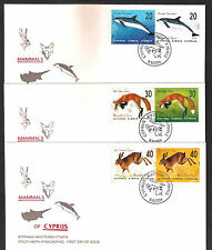 2004 Mammals Of Cyprus Dolphin Fox Hare Lepus Rabbit Set 6v Nice Unofficial Fdc