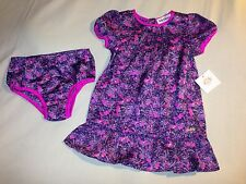 NWT 18 24 MONTHS JUICY COUTURE 2 PIECE DRESS WITH BLOOMERS SET PURPLE PINK CUTE!