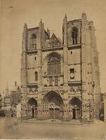 Francia Nantes Cattedrale San Pierre, Foto Neurdein Vintage Albumina, Ca 1880