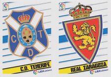 N°11 BADGE ESCUDO # CD.TENERIFE / REAL ZARAGOZA STICKER PANINI LIGA 2014