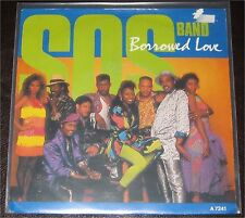"SOS Band, Borrowed Love, VG/VG++ 7"" Single 0847-4"