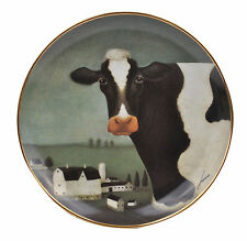 Cow Country American Folk Art Lowell Herrero Franklin Mint Country Cow Plate