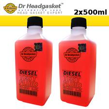 2x 500ml FX-600 DIESEL BLOCK TEST FLUID - BLOWN HEAD GASKET - COMBUSTION LEAK 9B