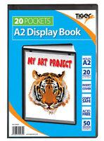 A2 Black Display Book Presentation Folder Portfolios