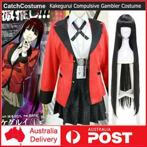 Kakegurui Compulsive Gambler Yumeko Jabami Cosplay Costume High School Uniform