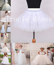 Flower Girl Children Underskirt Wedding Crinoline Petticoat 2-Hoop/ Hoopless