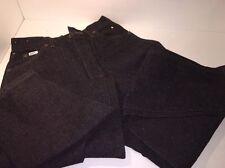 Lee Jeans Womens Juniors Denim Black Relaxed Rider Size 9 Medium
