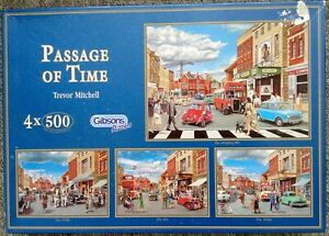 """GIBSON  """"PASSAGE OF TIME"""" 4 X 500 PIECE JIGSAW PUZZLES - Complete"""