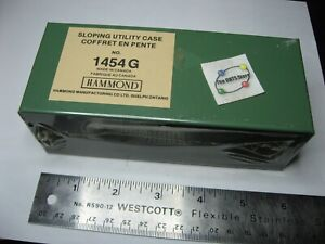 "Hammond 1454-G Chassis Steel Green Black Sloped 6"" x 2.5"" x 2"" LWH - NOS Qty 1"