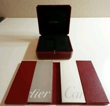 CARTIER WATCH BOX ORIGINAL CASE RED LEATHER DISPLAY (cowa0029)