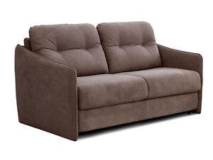 Schlafsofa mit integrierter Matratze BEEPER Sofa Couch Dauerschläfer Hellbraun