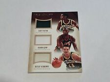 Panini Immaculate 2013-14 Trio Patch Supersonics Kemp Payton Schrempf /10