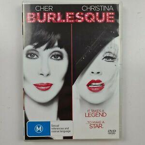 Burlesque DVD - Cher - Christina Aguilera - Region 4 PAL - FREE TRACKED POST