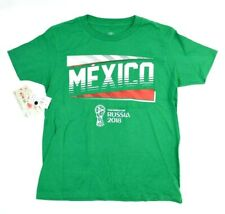 NEW FIFA World Cup Russia 2018 Mexico Kelly Green T-Shirt Youth Large