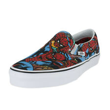 Men VANS Marvel Classic Slip on Spiderman SNEAKERS Red Blue Size 9